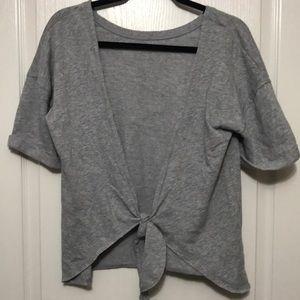 Victoria's Secret Open Back Gray Tie Sweatshirt